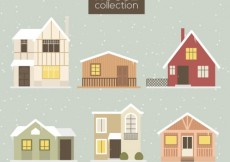 Free vector Winter Houses Collection #33330