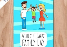 Free vector Wish you happy family day card #31758