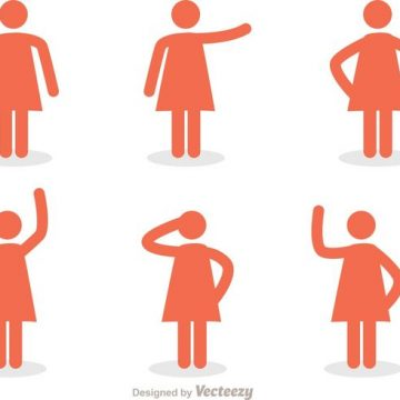 Free vector Woman Stick Figure Icons Vector Pack #34592