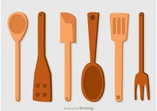 Free vector Wooden Spoons Icons Vector Pack #33249