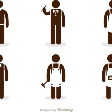 Free vector Work Stick Figure Icons Vector Pack #34582