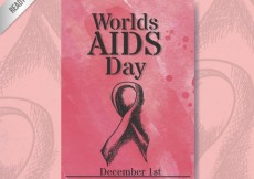 Free vector Worlds AIDS day poster with sketchy ribbon #30605