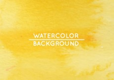 Free vector Yellow watercolor background #29998