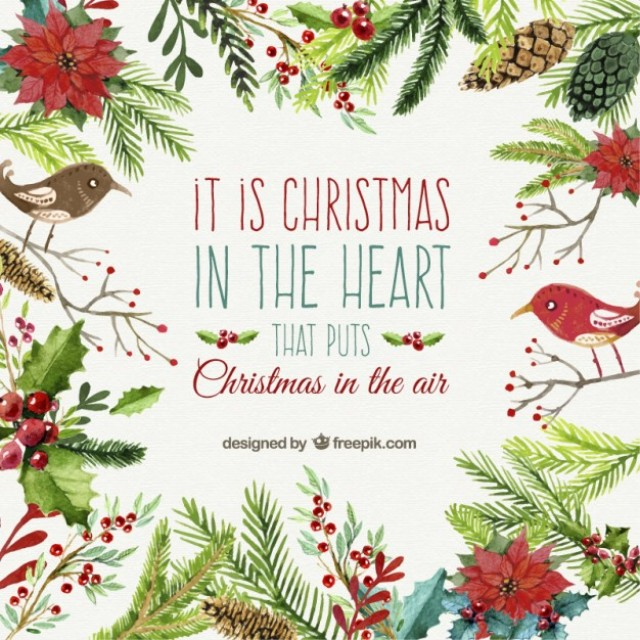 A selection of the best 30 Free Christmas Card Vectors