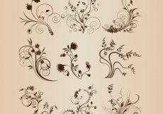 Free vector Abstract Floral Design Elements Vector Set #3549