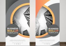 Free vector Abstract rollup of business #780