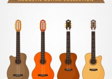 Free vector Acoustic guitar pack #3638