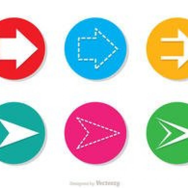 Free vector Arrow Vector Icons Set #22