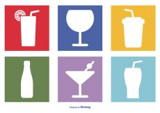 Free vector Assorted Drinks Icon Set #1207