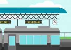 Free vector Background of outdoor train station #3252