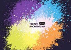 Free vector Background with colorful spots and sprays on a dark #2375