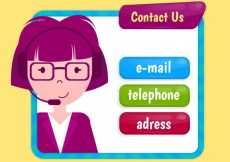Free vector Background with operator and contact buttons #2726