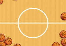 Free vector Basketball court with balls background #1438