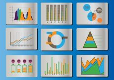 Free vector Bell Curve Icon Vector Set #1740