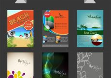 Free vector  Big collection of creative flyers, templates or banners design #604