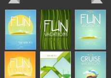 Free vector  Big collection of Vacation flyers, templates or banners design for Tour and Travel concept #622