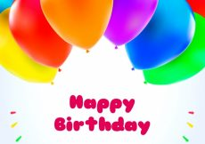 Free vector Birthday background of colored balloons #2711