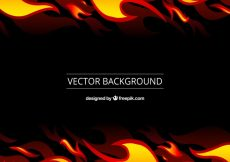 Free vector Black background with orange and yellow flames #1306