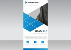 Free vector Blue roll up business template #3254