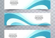Free vector Blue wavy banners #2289