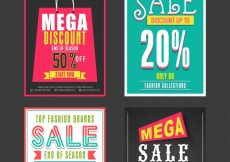 Free vector  Collection of Sale and Discount Offer flyers, templates and banners design #498