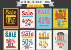 Free vector  Collection of Sale and Discount Offer flyers, templates and banners design #494