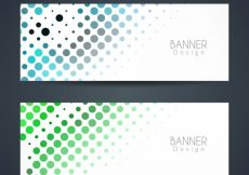 Free vector Colorful halftone banners #3490