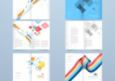 Free vector  Creative four pages brochure template set for business #698