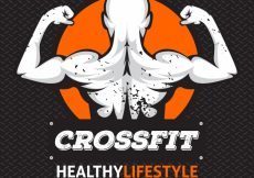 Free vector Crossfit background with illustration #294