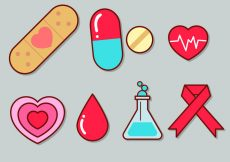 Free vector Cute Medical Icon Set 1 #1013