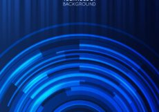 Free vector Dark blue technology background with circular forms #2279