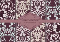 Free vector Dark colors pattern background collection #1791