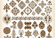 Free vector Decorative Pattern Elements Vector Collection #2447