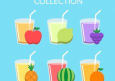 Free vector Delicious fruit juice collection #3107
