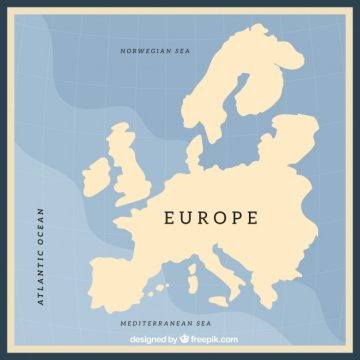 Free vector Empty europe map design #1276