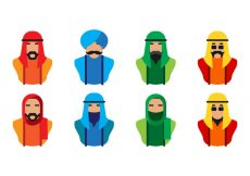 Free vector Free Arabic People Icon Vector #945