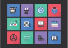 Free vector Free Flat Entertainment Vector Icon Set #1681