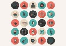Free vector Free Flat Music Vector Icon Set #2847