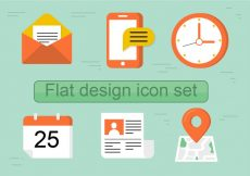 Free vector Free Flat Vector Icon Set #365