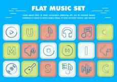 Free vector Free Flat Vector Music Icons #1429