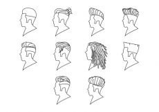 Free vector Free Hairstyle Icon Vector #1299