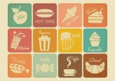 Free vector Free Retro Drink And Food Vector Icons #2763