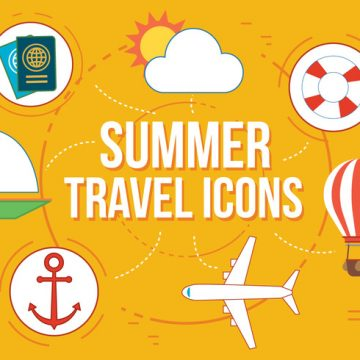 Free vector Free Summer Travel Vector Icons #1093