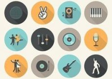 Free vector Free Vector Flat Music Icons #2817