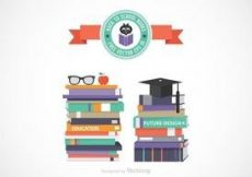 Free vector Free Vector Stack Of School Books #2039