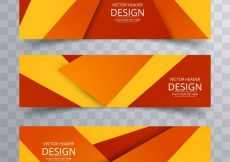 Free vector Geometric colorful banners #2291