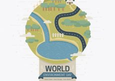 Free vector Great background with earth for world environment day #1622