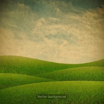 Free vector Green nature retro background vector 03 #3006