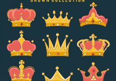 Free vector Hand drawn crown collection #756