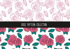 Free vector Hand-drawn patterns of roses #1484
